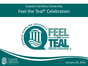 Feel the Teal® Celebration Coastal Carolina University January 20, 2016