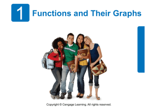 1 Functions and Their Graphs Copyright © Cengage Learning. All rights reserved.