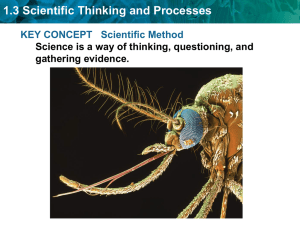 1.3 Scientific Thinking and Processes KEY CONCEPT   Scientific Method