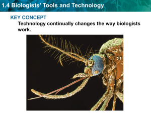 1.4 Biologists' Tools and Technology KEY CONCEPT work.