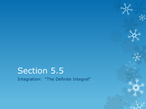 "Section 5.5 Integration:  ""The Definite Integral"""