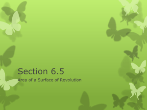 Section 6.5 Area of a Surface of Revolution