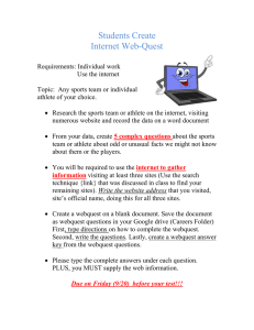 Students Create Internet Web-Quest