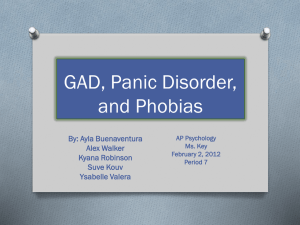 GAD, Panic Disorder, and Phobias By: Ayla Buenaventura Alex Walker