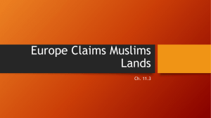 Europe Claims Muslims Lands Ch. 11.3