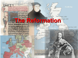 The Reformation Unit 2.1