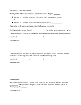 worksheet elasticity answer 1 Introduction to microeconomics worksheet 1 answers alberto behar question 1 a) shits dd left  if elasticity 1, defined as elastic means change in q is bigger than the change in p.