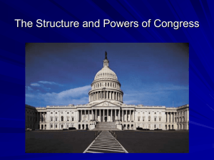 The Structure and Powers of Congress