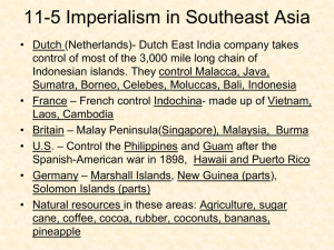 11-5 Imperialism in Southeast Asia