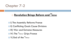 Chapter 7-2 Terror Revolution Brings Reform and