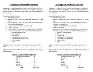 Creating a Government Guidelines