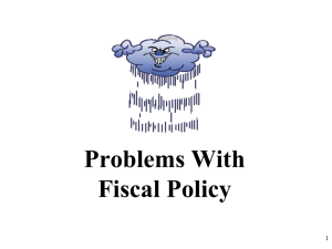 Problems With Fiscal Policy 1