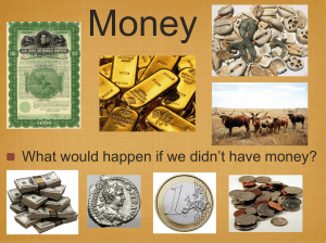 Money 't have money? What would happen if we didn