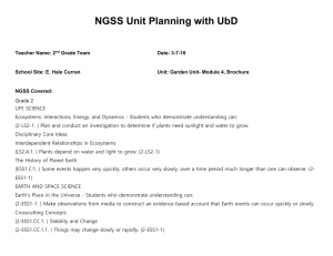 NGSS Unit Planning with UbD