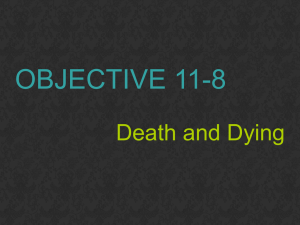 OBJECTIVE 11-8 Death and Dying