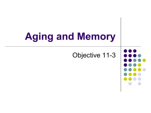 Aging and Memory Objective 11-3
