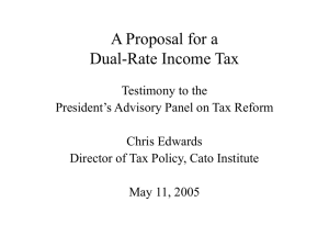 A Proposal for a Dual-Rate Income Tax
