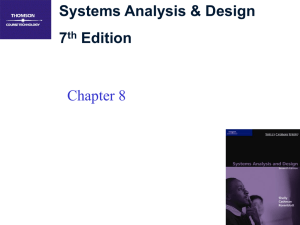 Systems Analysis & Design 7 Edition Chapter 8