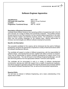 Software Engineer Apprentice