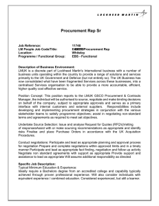 Procurement Rep Sr