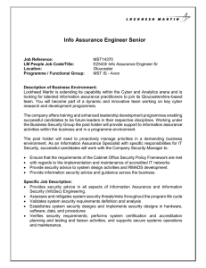 Info Assurance Engineer Senior