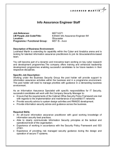Info Assurance Engineer Staff