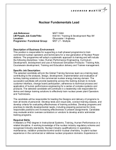 Nuclear Fundementals Lead