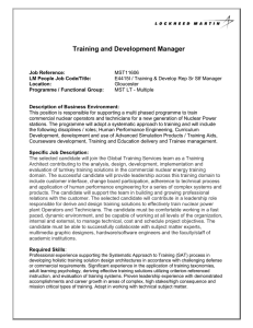 Training and Development Manager