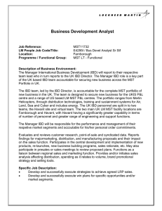 Business Development Analyst