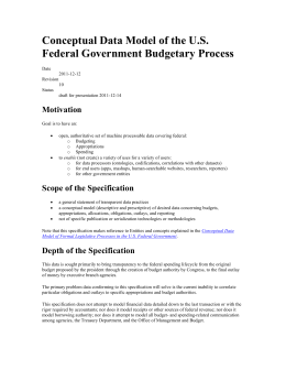 Conceptual Data Model of the U.S. Federal Government Budgetary Process Motivation