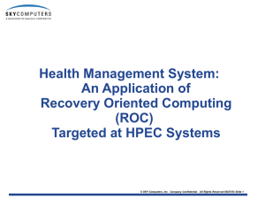 Health Management System: An Application of Recovery Oriented Computing (ROC)
