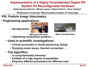 Implementation of a Highly Parameterized Digital PIV System On Reconfigurable Hardware