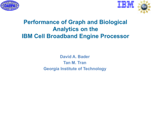 Performance of Graph and Biological Analytics on the David A. Bader