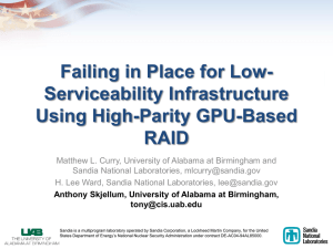 Failing in Place for Low- Serviceability Infrastructure Using High-Parity GPU-Based RAID