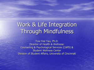 Work & Life Integration Through Mindfulness