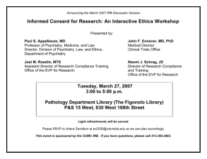 Informed Consent for Research: An Interactive Ethics Workshop