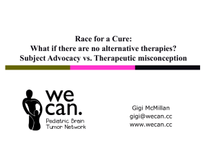 Race for a Cure: What if there are no alternative therapies?