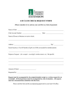 4-H CLUB CHECK REQUEST FORM
