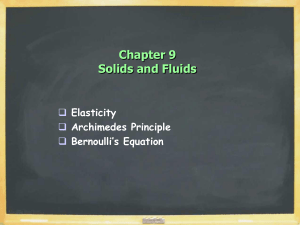 Chapter 9 Solids and Fluids  Elasticity