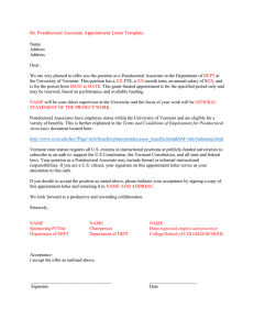 6b. Postdoctoral Associate Appointment Letter Template