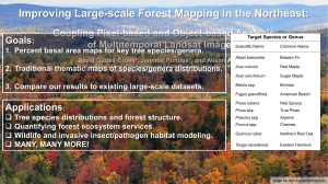 Improving Large-scale Forest Mapping in the Northeast: Goals of Multitemporal Landsat Imagery