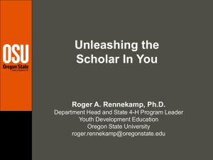 Unleashing the Scholar In You Roger A. Rennekamp, Ph.D.