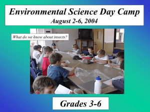 Environmental Science Day Camp Grades 3-6 August 2-6, 2004