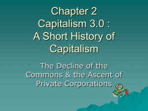 Chapter 2 Capitalism 3.0 : A Short History of Capitalism