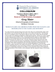 Greg Slater COLLOQUIUM Tuesday March 29th, 2011 12:00