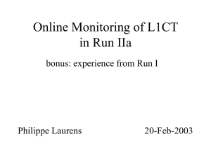 Online Monitoring of L1CT in Run IIa bonus: experience from Run I