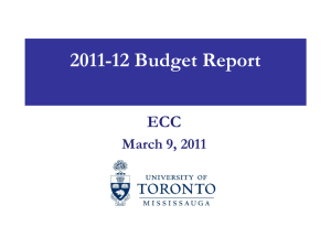 2011-12 Budget Report ECC March 9, 2011