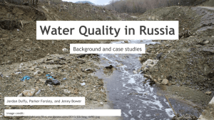 Water Quality in Russia Background and case studies image credit: