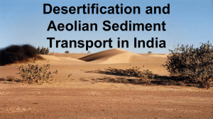 Desertification and Aeolian Sediment Transport in India