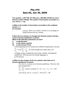 Phy 410 Quiz #2, Jan 30, 2009